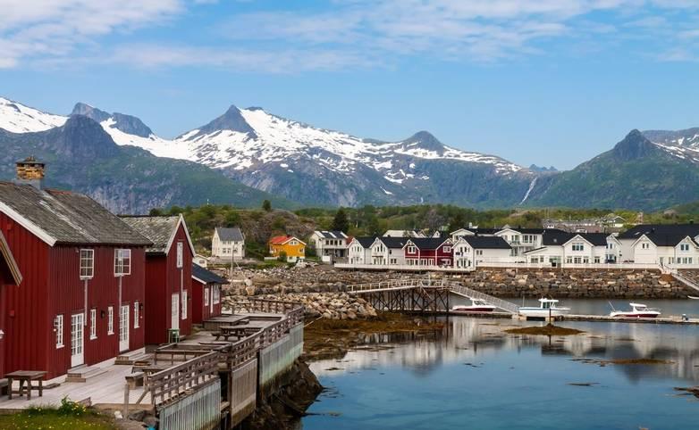 Daytime in Kabelvag, Lofoten Islands, Norway
