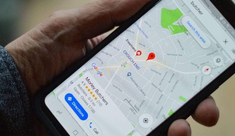 Map software on a mobile phone