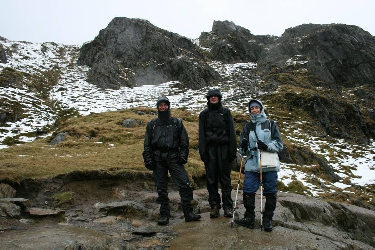 Climbing Snowdon winter