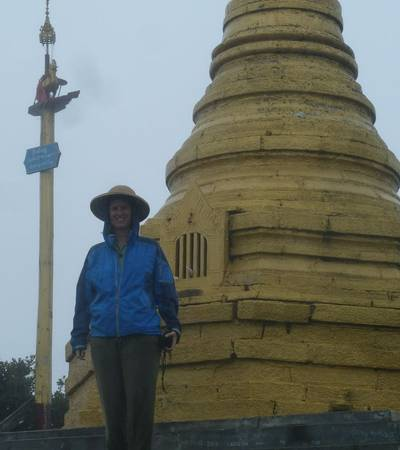 Pagoda on summit of Mount Victoria