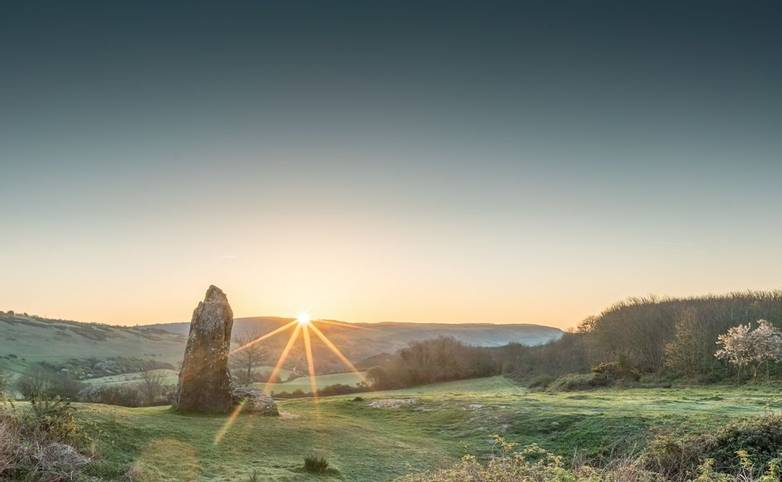 Sunrise at the Long Stone