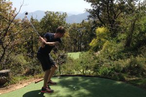 Playing golf at Ananda in the Himalayas