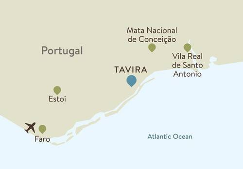 Tavira Itinerary Map