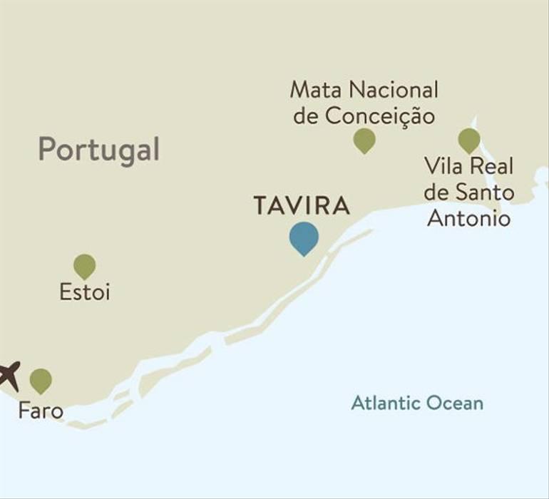 Tavira Itinerary Map