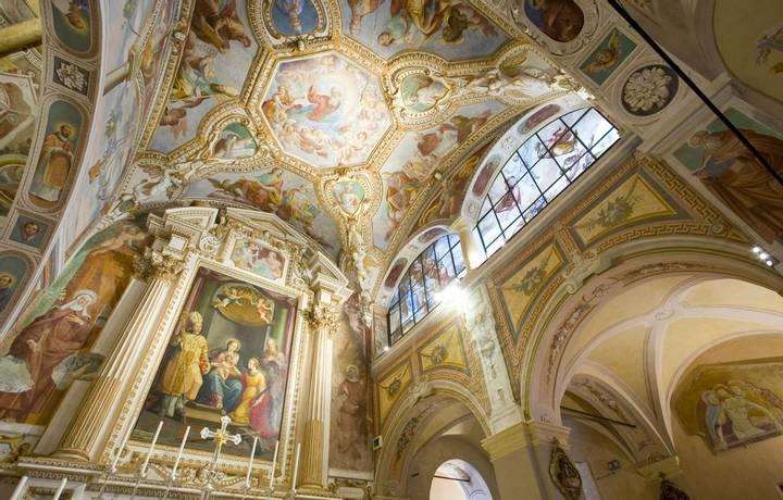 Santa Caterina del Sasso, Lake Maggiore, Lombardy, Italy.