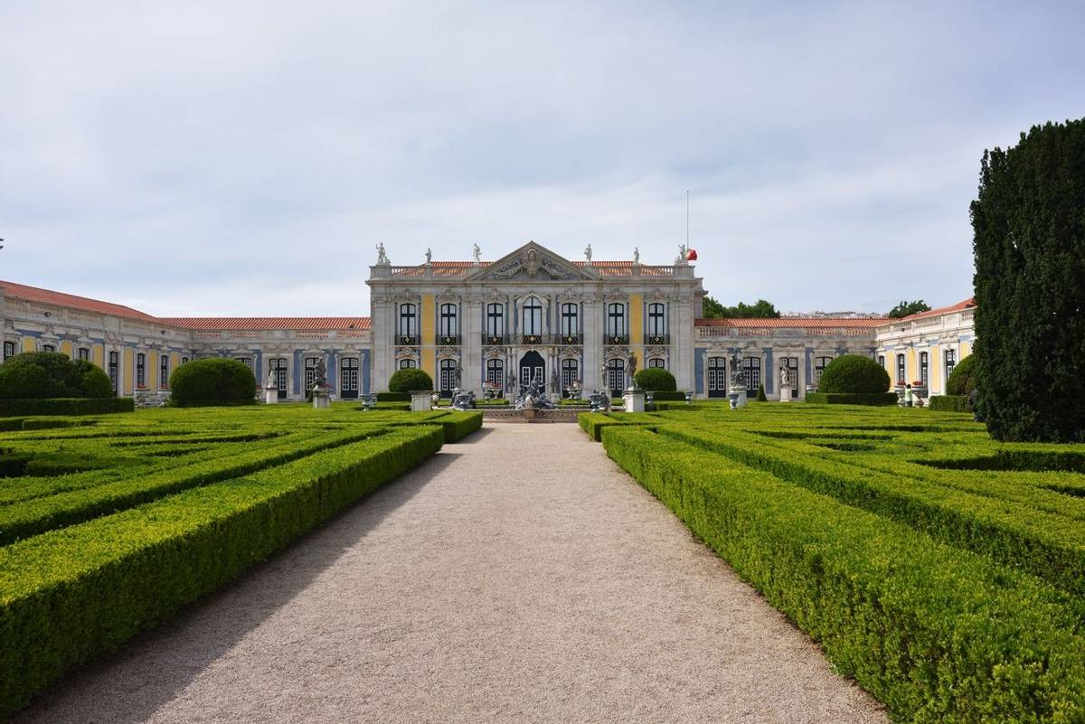 The Palace of Queluz is a Portuguese 18th-century palace located at Queluz in Sintra Municipality Lisbon District, Portugal