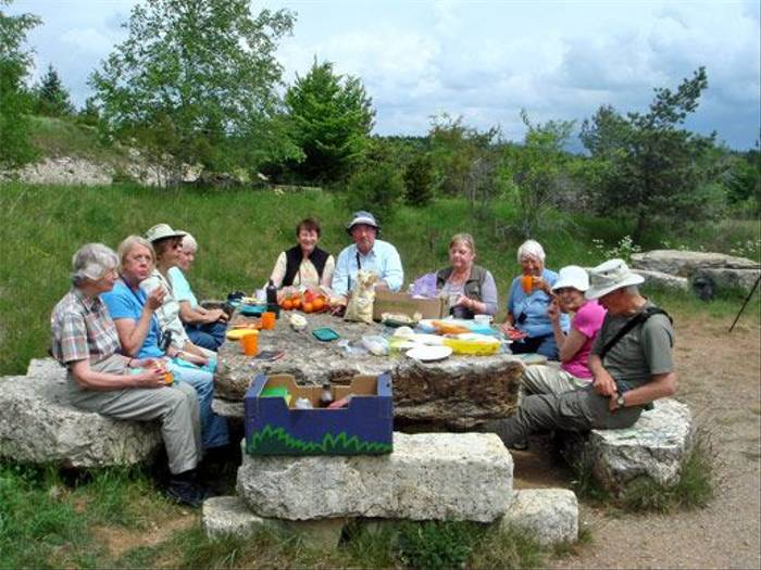 Picnic at Col de Faisses (John and Jenny Willsher)