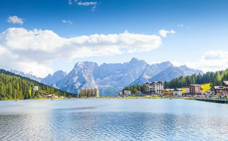a Lake panorama -Italy