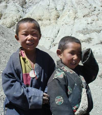 Dolpo-pa boys in Yangur village