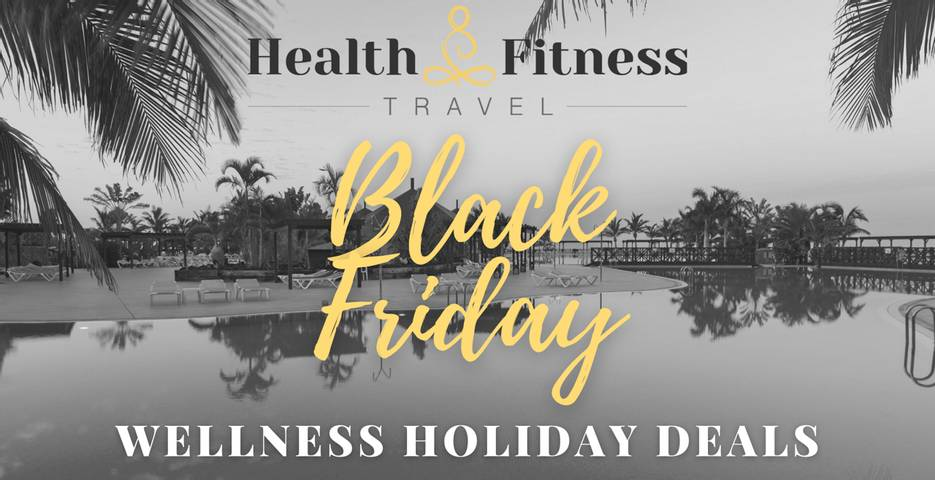 Black and white background, gold title: Black Friday Deals