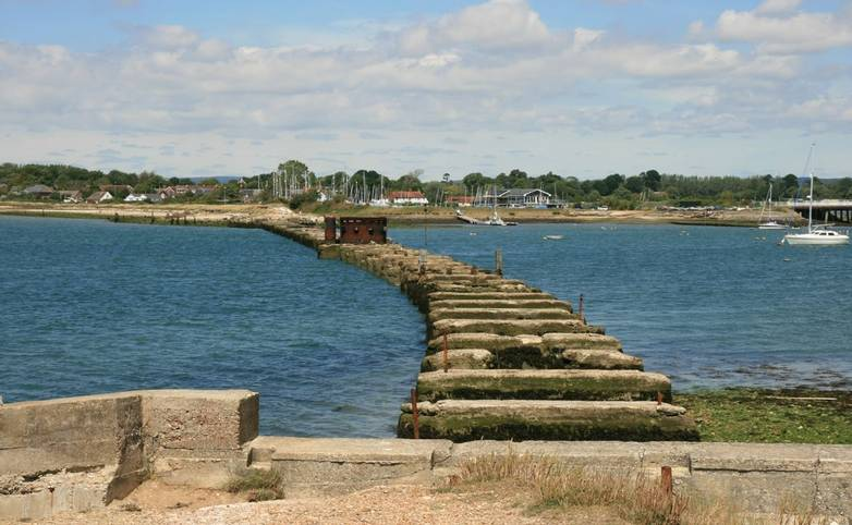 Old railway bridge remains Hayling Billy Line.JPG