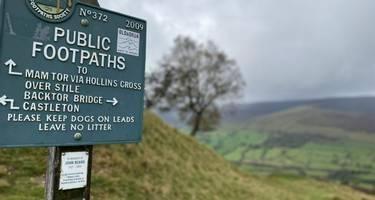The Great Ridgeway in the English Peak District