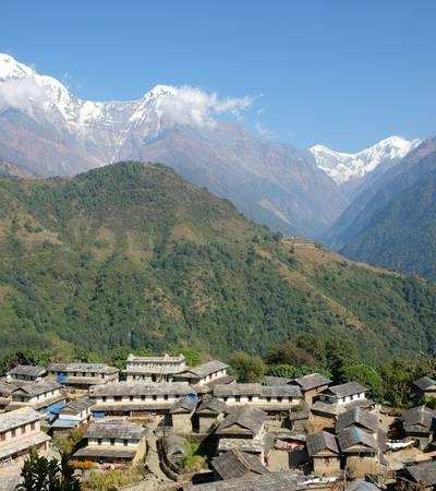 Ghandruk village at 1,940m