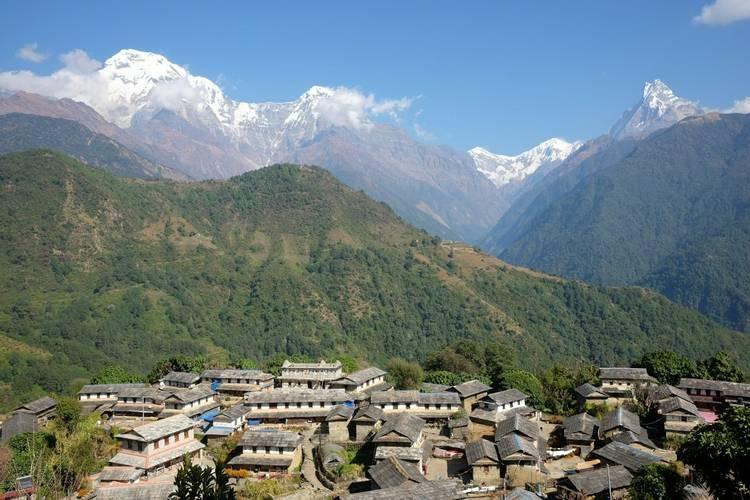 Ghandruk village on Annapurna Base Camp trek in Nepal