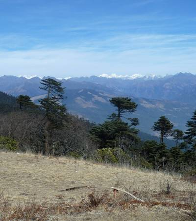 View from Kitiphu Ridge (4,050m)