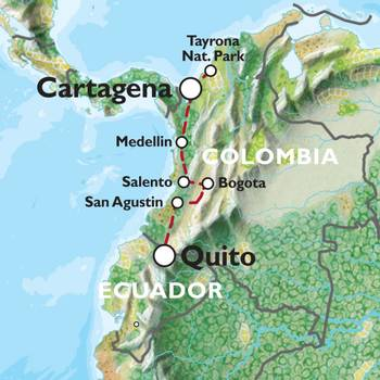CARTAGENA TO QUITO (22 days) Colombian Adventure