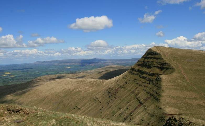 View of Cribyn from path coming down from Pen y Fan.JPG