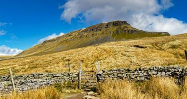 A path leading to Pen-y-ghent in the Yorkshire Dales
