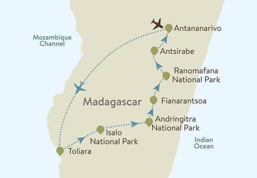 Madagascar Itinerary Map