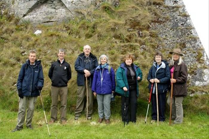 Naturetrek group against Newtown Tower (Maureen Ponting)