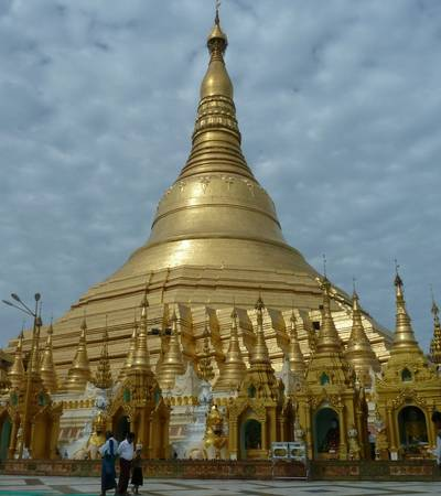 Golden Swedagon Pagoda temple in Yangon