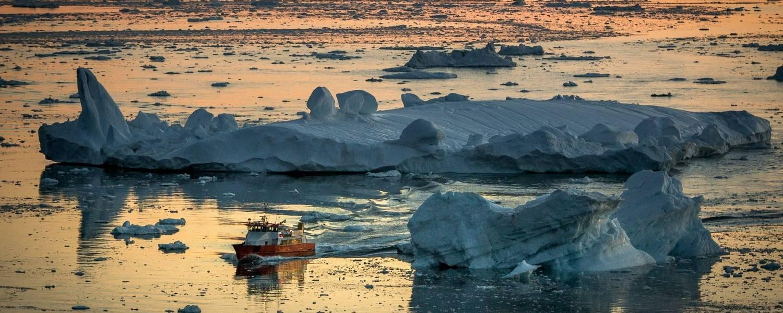 Sunset near Ilulissat - Credit Mads Pihl and Visit Greenland