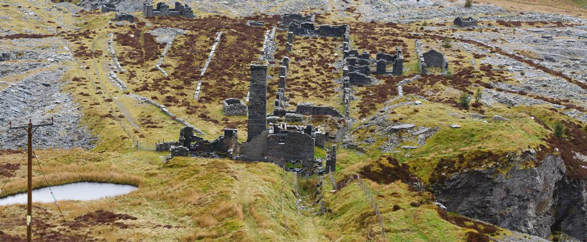 The abandoned Rhiw bach Slate Quarry near Blaenau Ffestiniog in North Wales opened in 1812 closed in 1952