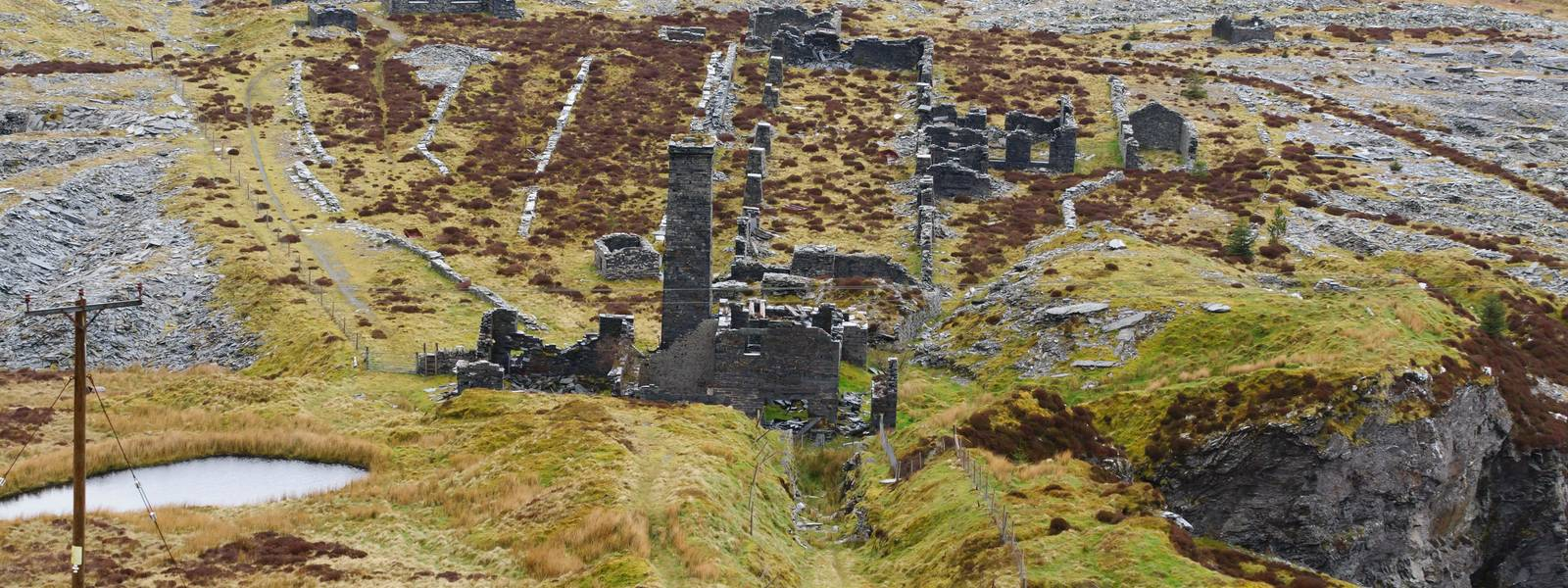 The abandoned Rhiw bach Slate Quarry near Blaenau Ffestiniog in North Wales opened in 1812 closed in 1952 one of many forgot…
