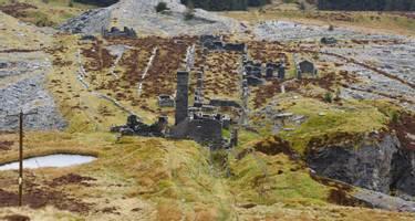 The abandoned Rhiw bach Slate Quarry near Blaenau Ffestiniog in North Wales opened in 1812 closed in 1952