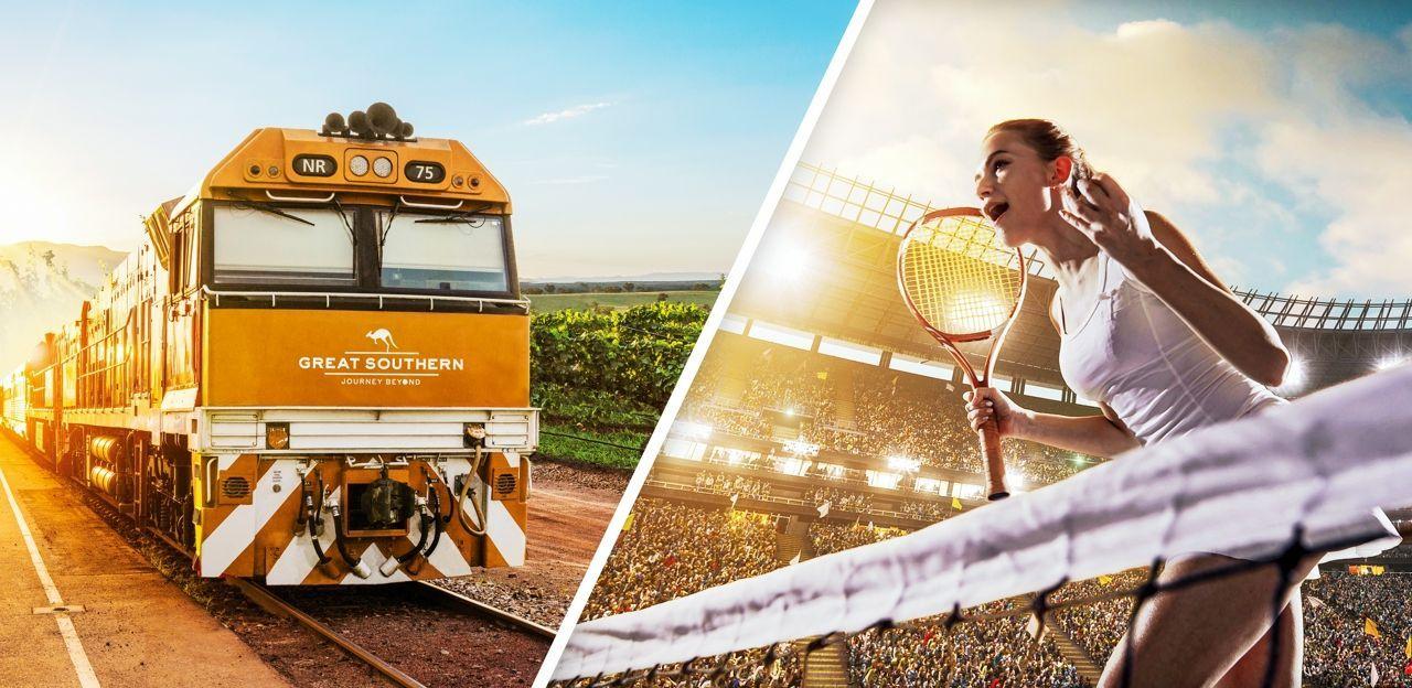 Great Southern Rail adventure and Australian Open Tennis