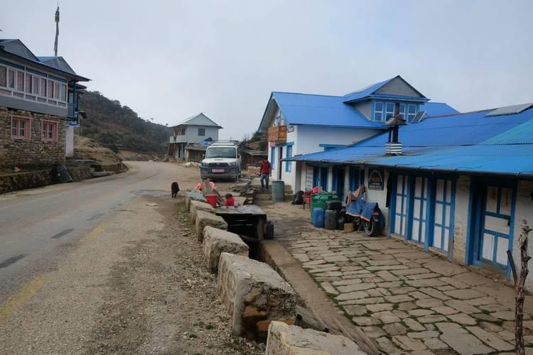 Road in Everest region of Nepal