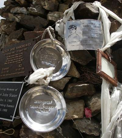 Gilkey memorial near K2 Base Camp