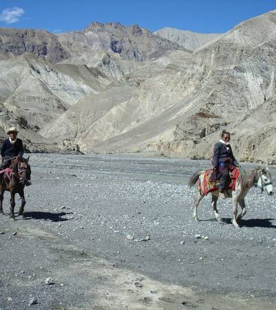 Dolpo-pa on horseback near Tora Sumda (4,000m)