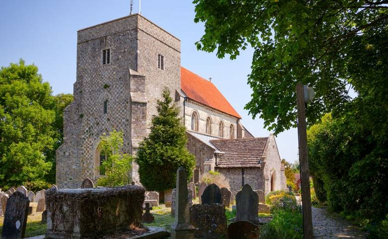 St Andrew and St Cuthman church in Steyning West Sussex South East England UK