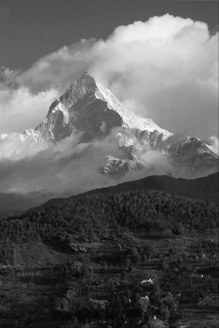 Machapuchare in cloud (Cliff Garratt)