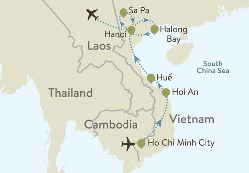 Vietnam Itinerary Map