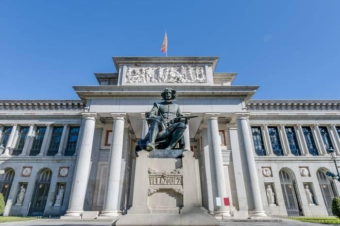 Prado Museum facade and Cervantes statue, Madrid, Spain  shutterstock_179023835.jpg