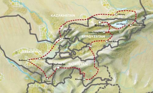 BISHKEK to BISHKEK (40 days) Central Stans & Pamir Explorer