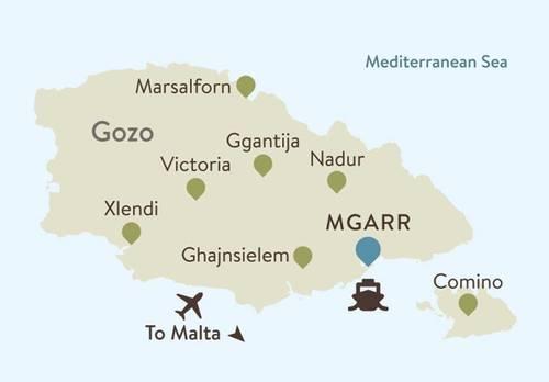 Gozo Itinerary Map
