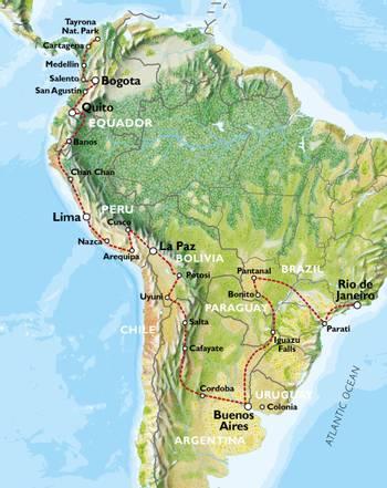 CARTAGENA to RIO via BUENOS AIRES (94 days) Southern Trans Oceanic