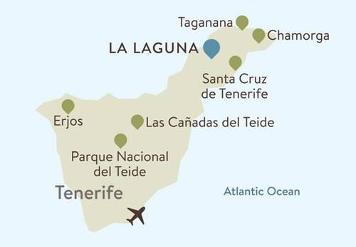 Tenerife Itinerary Map