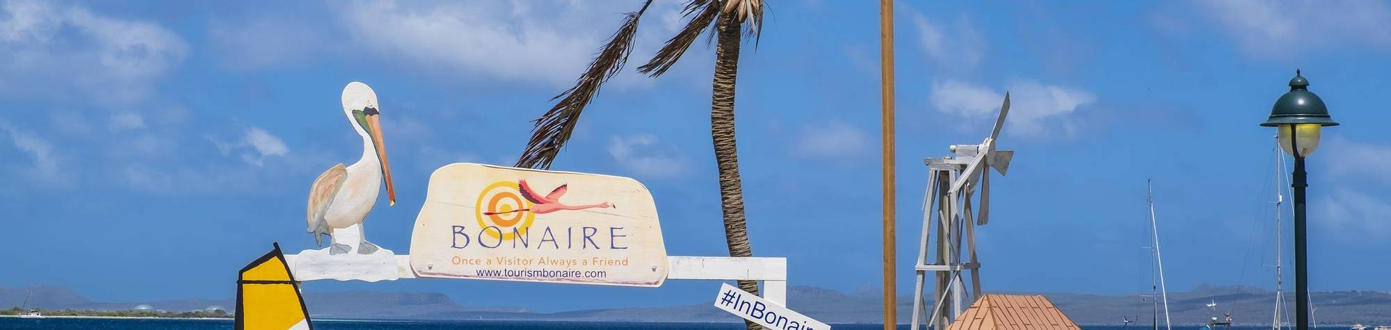 The perfect spot for a souvenir picture in Kralendijk, the capital city and main port of the island of Bonaire in the Caribb…