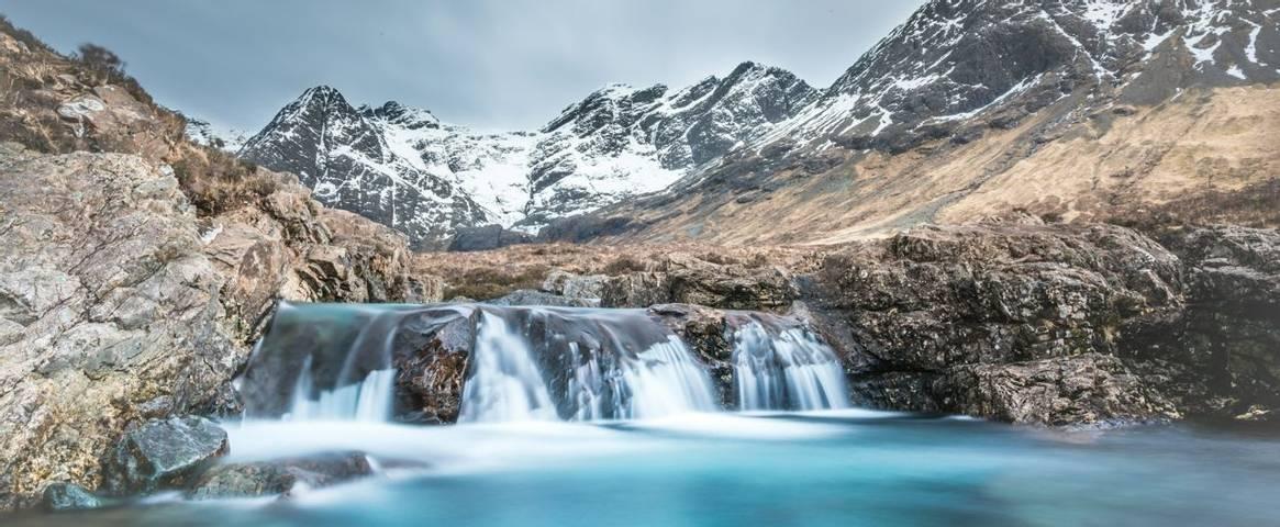 Fairy Pools Waterfall on the Isle of Skye -