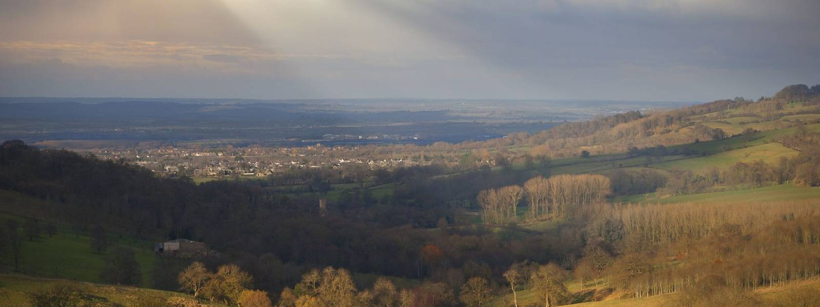 View from Snowshill, Cotswolds, Gloucestershire, England.