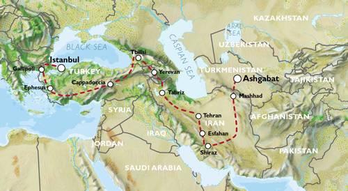 ISTANBUL to ASHGABAT (44 days) Caucasus & Persia Explorer