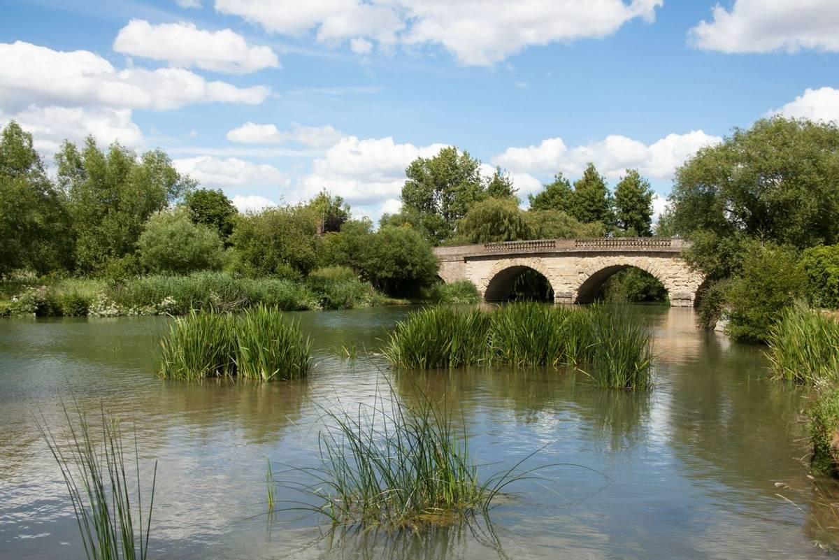 The Swinford Bridge over The Thames near Eynsham in West Oxfordshire in the UK