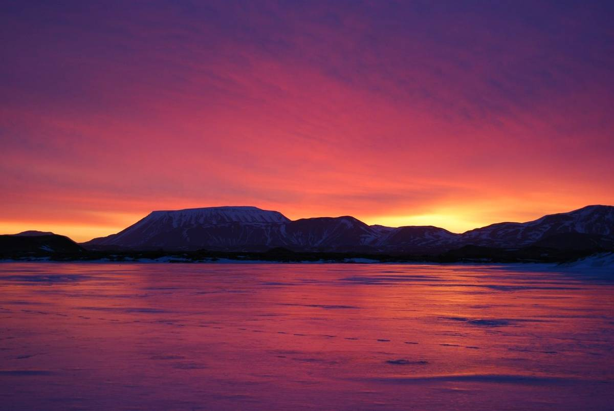 Myvatn at Sunrise by D Phillips