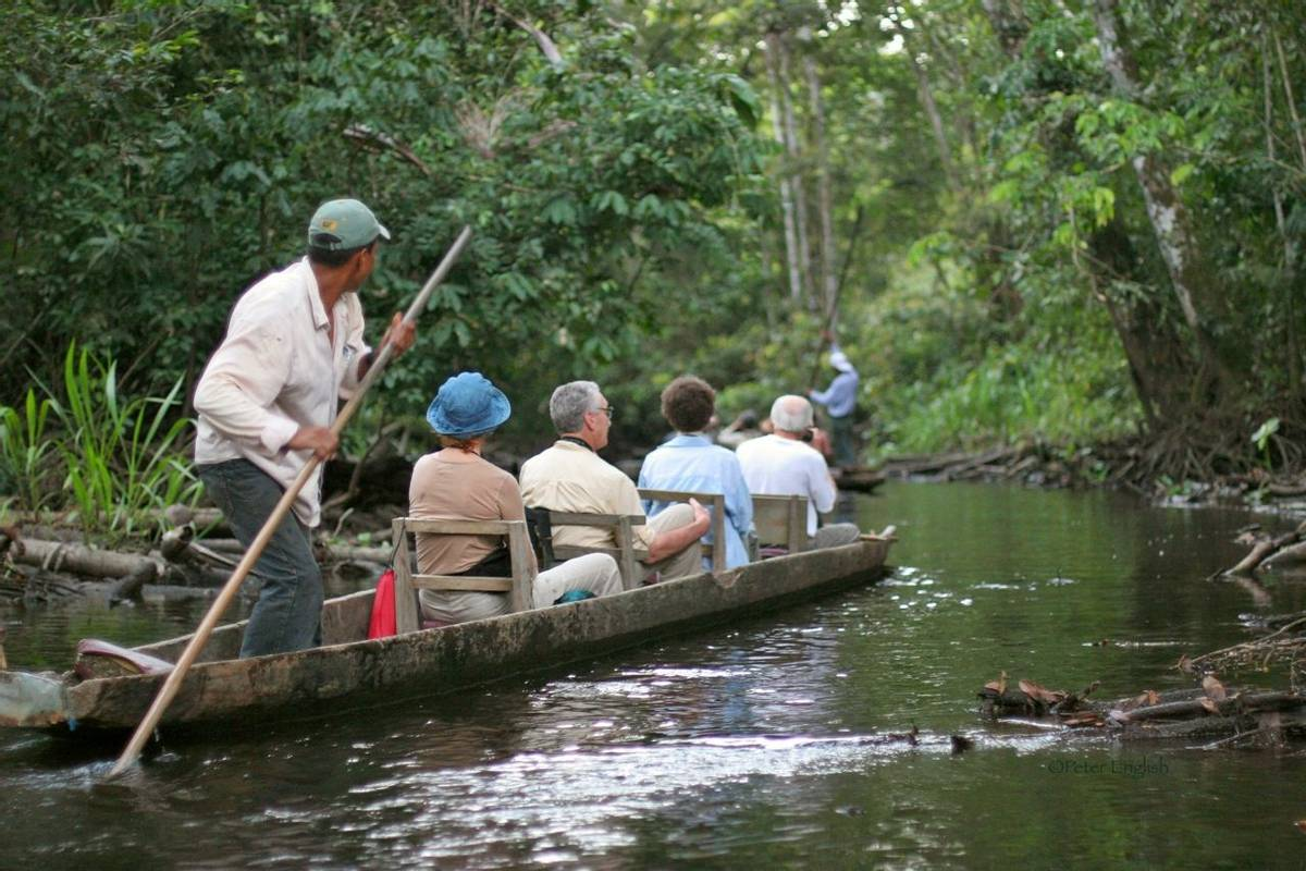 Naturetrek guests exploring by boat (Peter English)