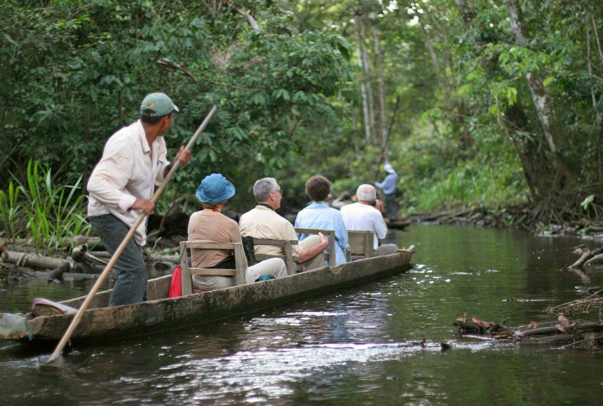 Naturetrek guests exploring by boat (Peter English)