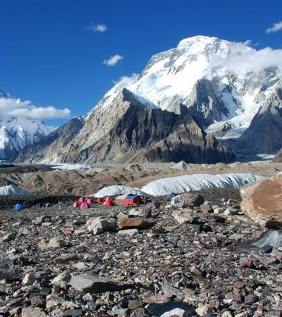 Mount K2 seen from Concordia